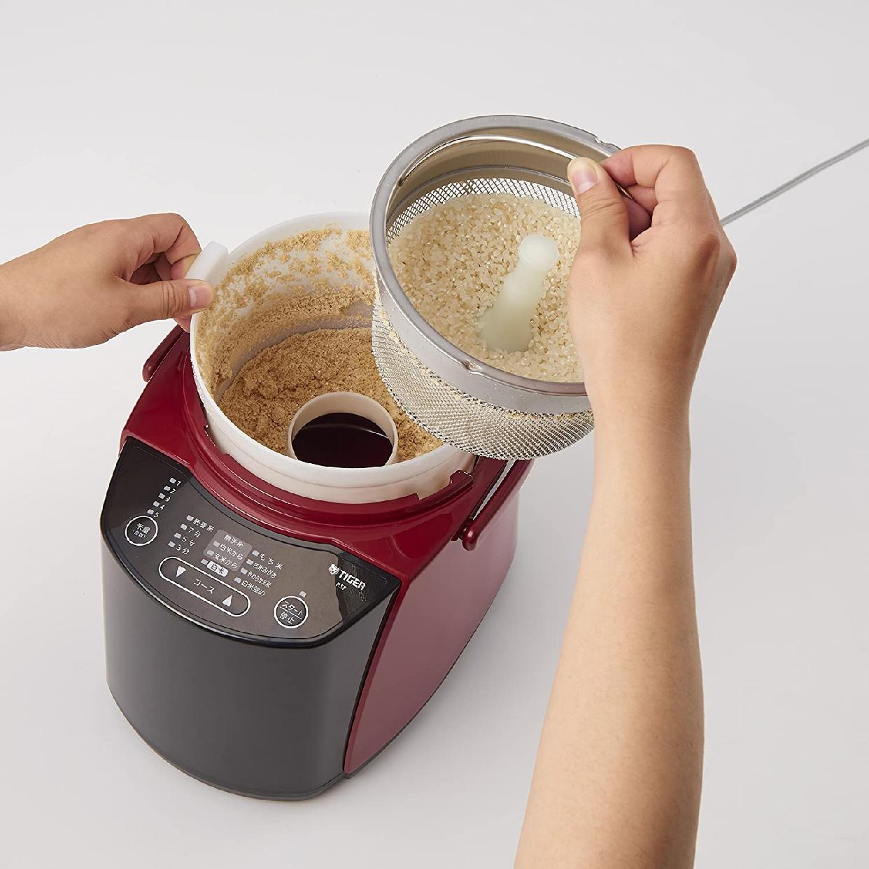 タイガー魔法瓶(タイガー)精米器(米とぎ機能つき)RSF-A100R レッドの商品画像6