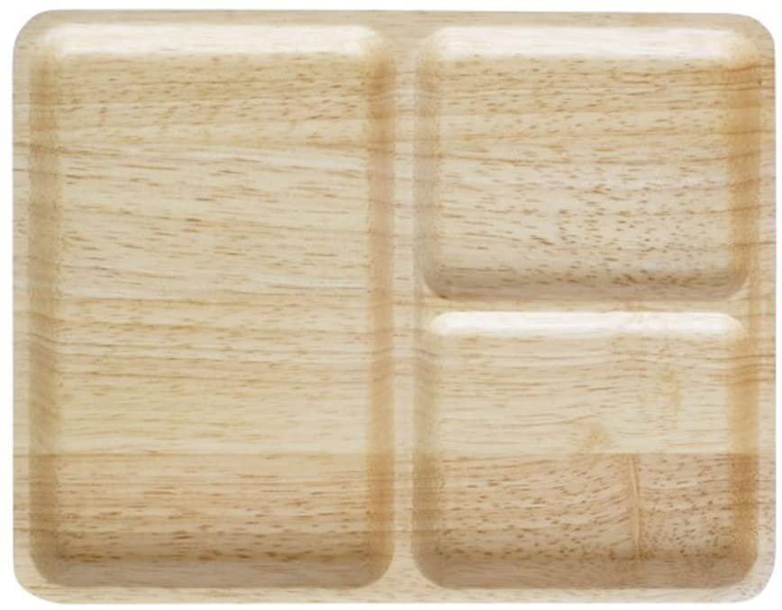 ACACIA(アカシカ)カフェ プレート SQUARE Natural L ブラウン AA-014NTの商品画像