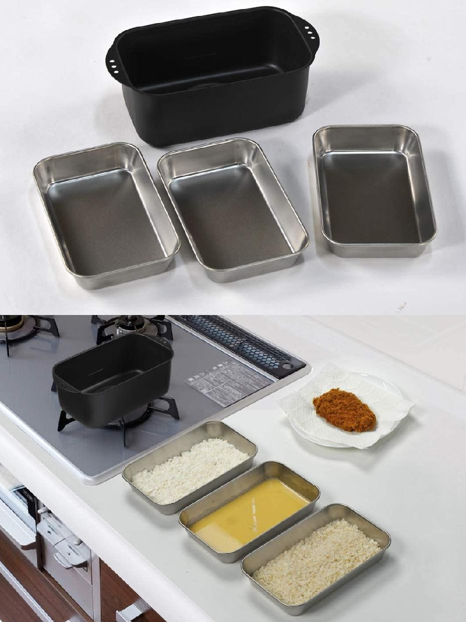 ヒロショウミニミニ天ぷら角型 バット付 ブラック MTS-SB3の商品画像7