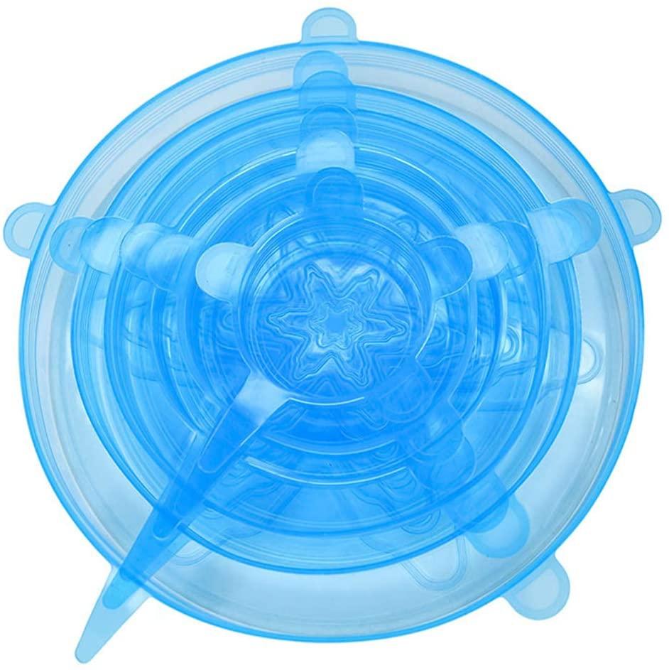 Hats(ハッツ)6ピースシリコーンストレッチふた ブルーの商品画像4