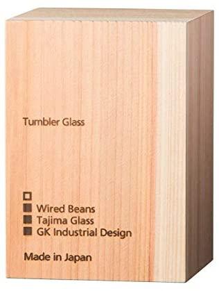 生涯を添い遂げるグラス(しょうがいをそいとげるグラス)タンブラー240 うす吹き トランスペアレント(透明)国産杉箱入りの商品画像7