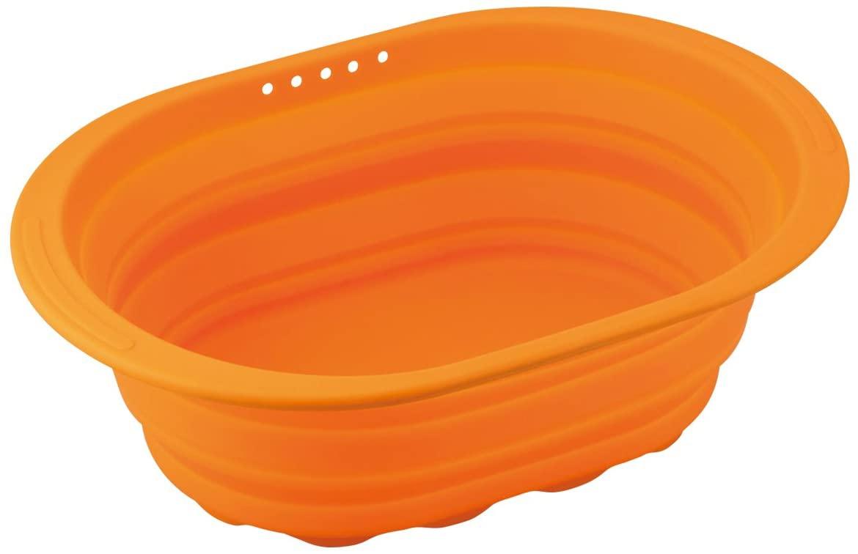 和平フレイズ(FREIZ) 洗い桶 スキッとシリコーン。オレンジ SR-4883の商品画像