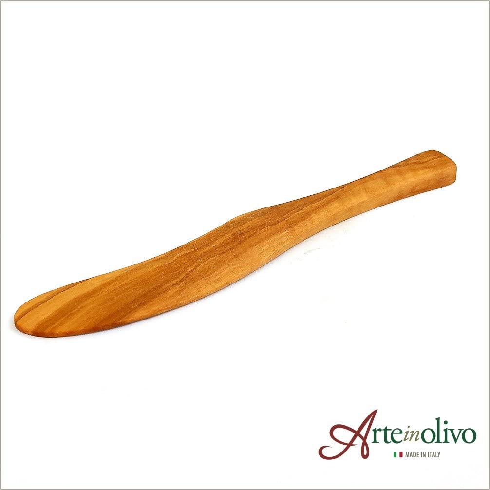 Arteinolivo(アルテイノリボ)オリーブウッドのバターナイフ 17cmの商品画像2
