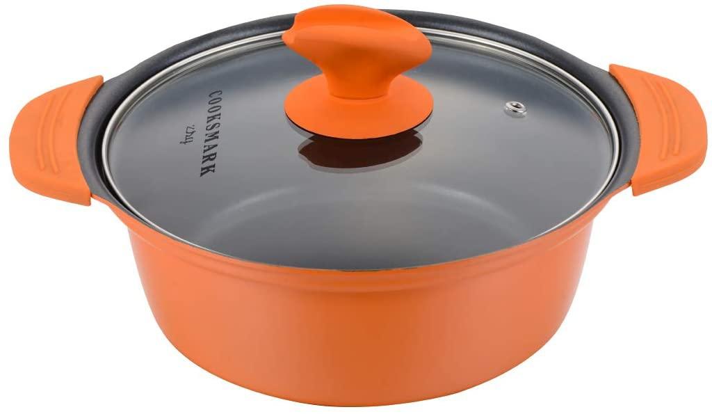 COOKSMARK(クックスマーク)両手鍋 20cm オレンジの商品画像