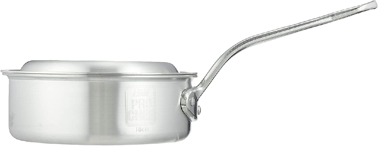 PRO CHEF(プロシェフ)アルミ 浅型片手鍋(目盛付)18cmの商品画像