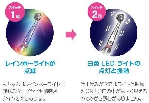 BabySmile(ベビースマイル)こども用電動歯ブラシ プチブルレインボー S-202の商品画像3