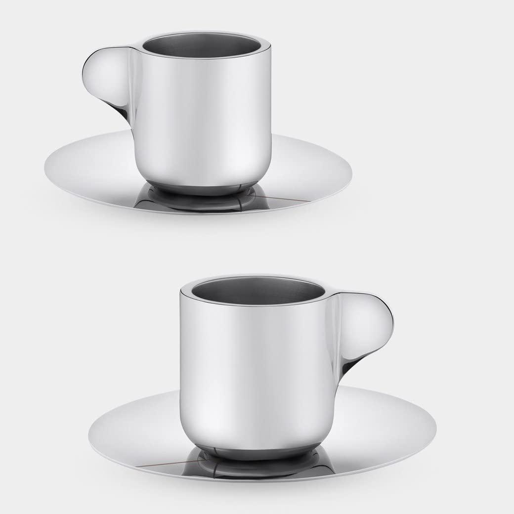 GEORG JENSEN(ジョージ ジェンセン) エスプレッソカップ&ソーサー(2客セット)の商品画像