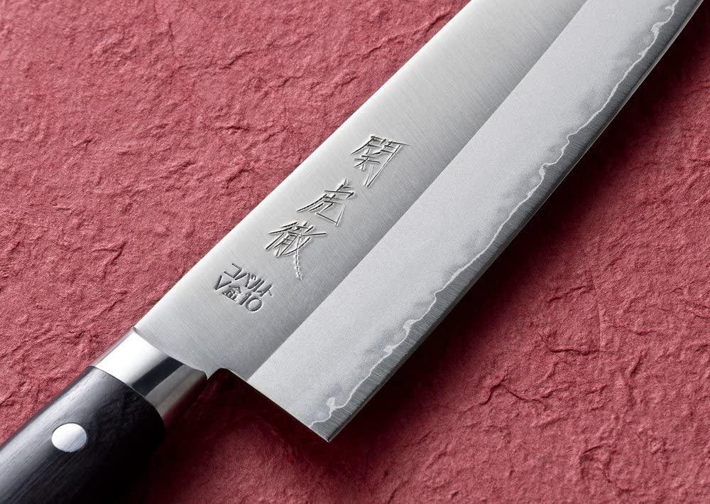 関虎徹(セキコテツ)V金10号 鍔付 三徳包丁 YG300の商品画像2