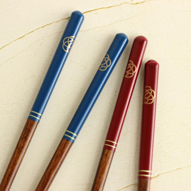 Maturite(マチュリテ) 梅結び 夫婦箸&箸置きセット 赤・青 0059UMB001の商品画像3