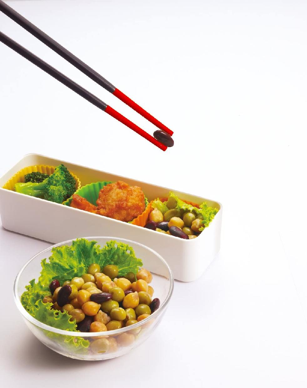 MARNA(マーナ) マーナ すべらずつかめるシリコーン菜ばし K690 レッドの商品画像2
