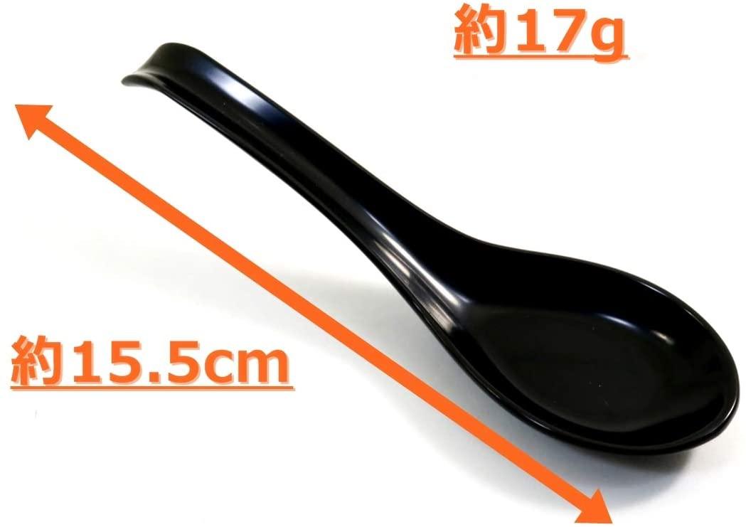 アサヒ興洋 レンゲ スプーン 黒の商品画像2