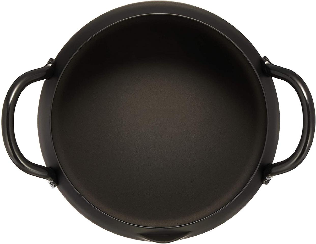 和平フレイズ(ワヘイフレイズ)匠弥(たくみや) 鉄 共柄天ぷら鍋16cm ブラック TY-042の商品画像3