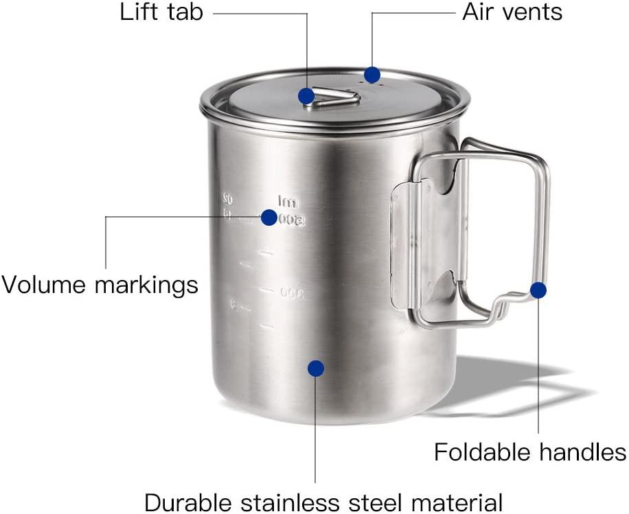 Lixada(リクサダ) チタンカップの商品画像3
