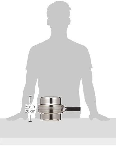 AUX(オークス) 日本製 IH対応 片付け簡単 天ぷら鍋セット オイルポット 温度計付 シルバー T23の商品画像9
