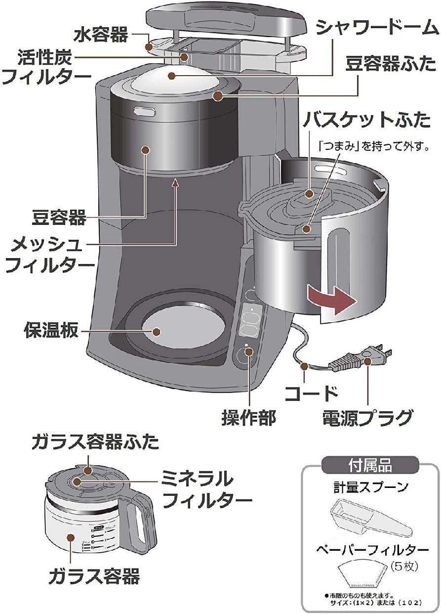 Panasonic(パナソニック)沸騰浄水コーヒーメーカー NC-A57の商品画像9