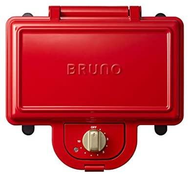 BRUNO(ブルーノ)ホットサンドメーカーダブル レッド ワッフルプレートセット BOE044-RD レッドの商品画像2