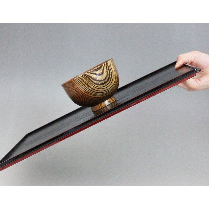 祭りのええもん(まつりのええもん)紀州漆器 両面長角膳 39cmの商品画像2