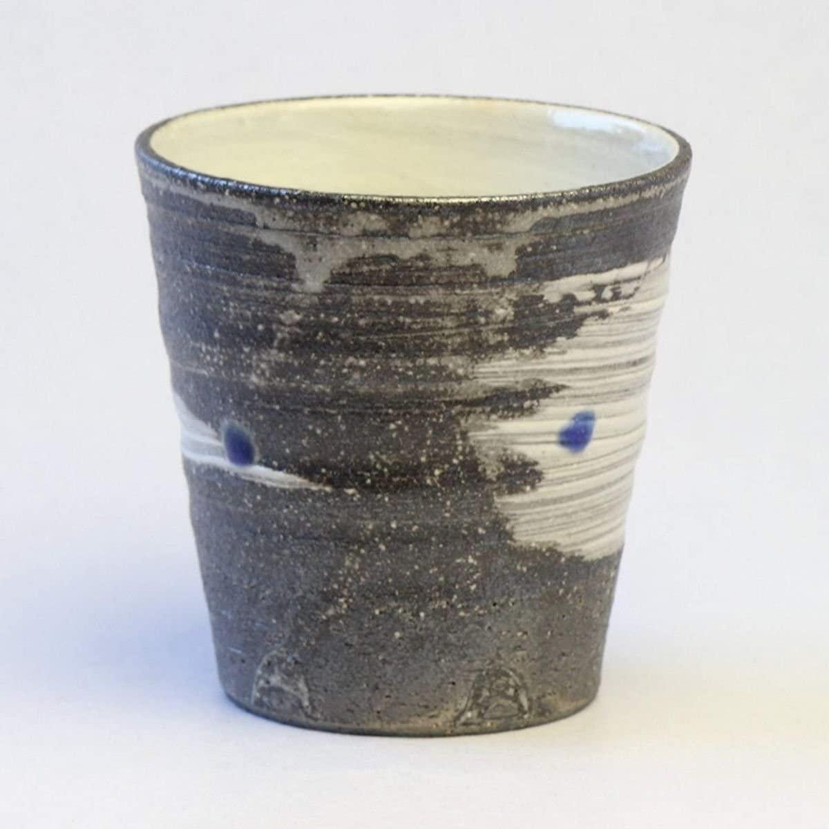 CtoC JAPAN Select(しーとぅーしーじゃぱんせれくと)信楽焼 焼酎グラス 天の川(青) W919-07の商品画像2