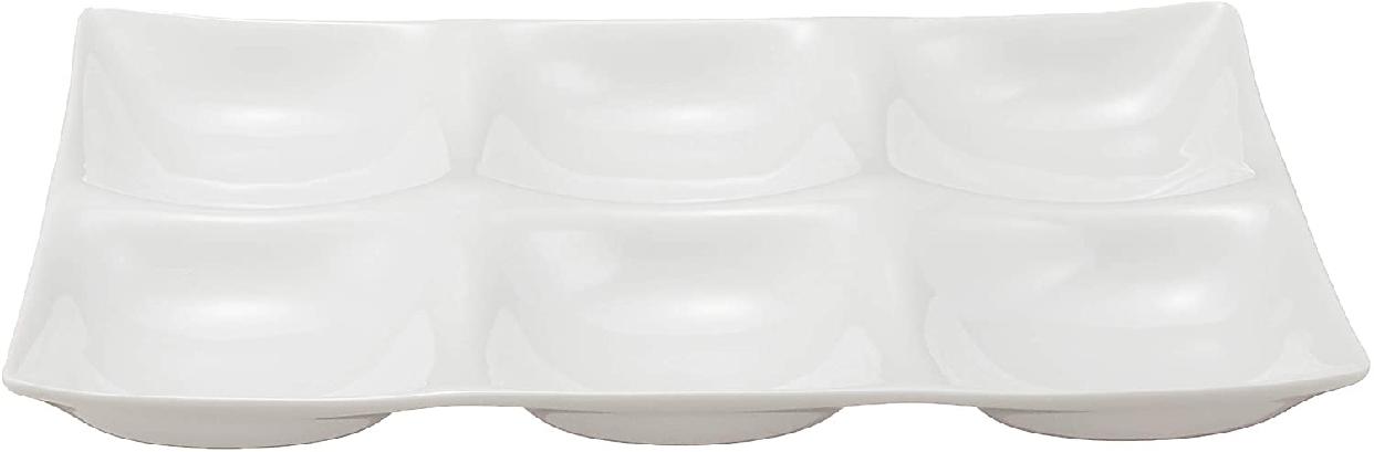 kowake(コワケ) 6つ仕切り皿 3枚セット 白磁の商品画像2