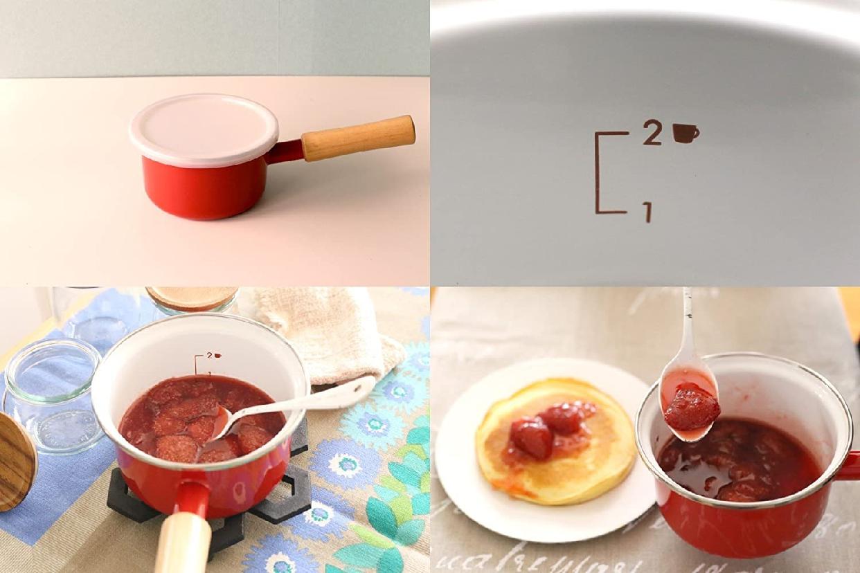 富士ホーロー(富士ホーロー)ソースパン 12cm ホワイトの商品画像6