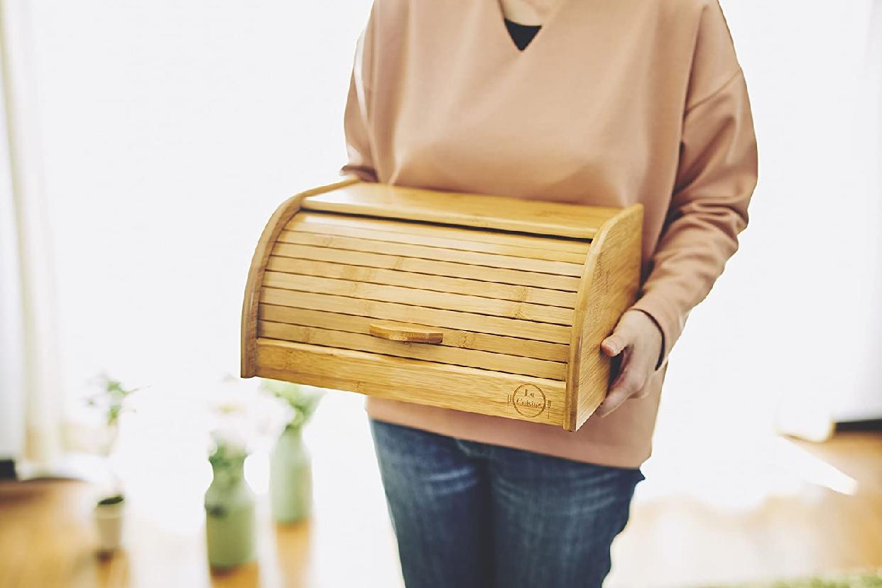 La Cuisine(ラ クイジーヌ) 竹製ブレッドケース ナチュラル EF-LC05の商品画像6