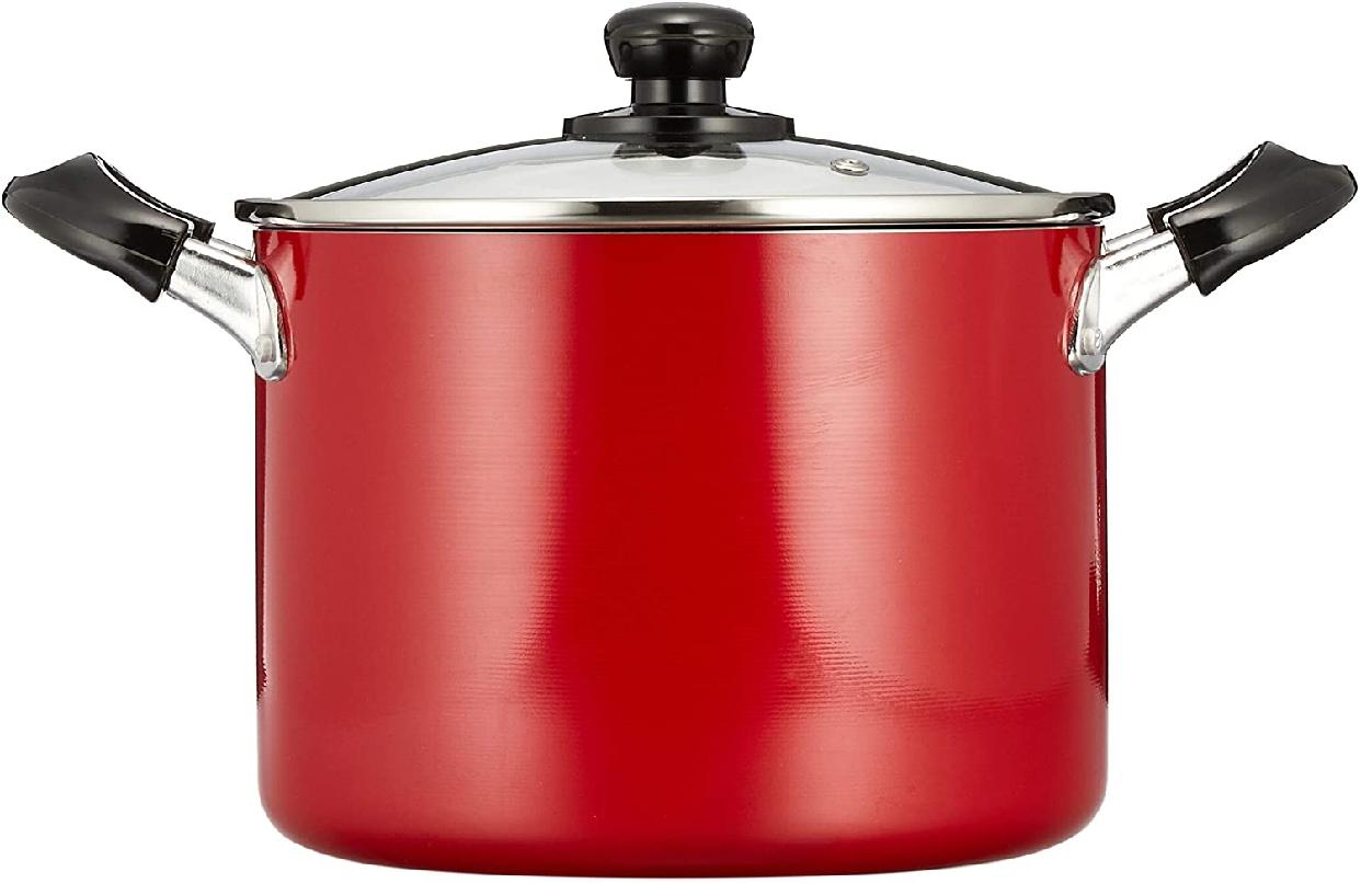 パール金属(PEARL) オンリーワン・ステージ 寸胴鍋 21cm ガラス鍋蓋付 HB-1448の商品画像2