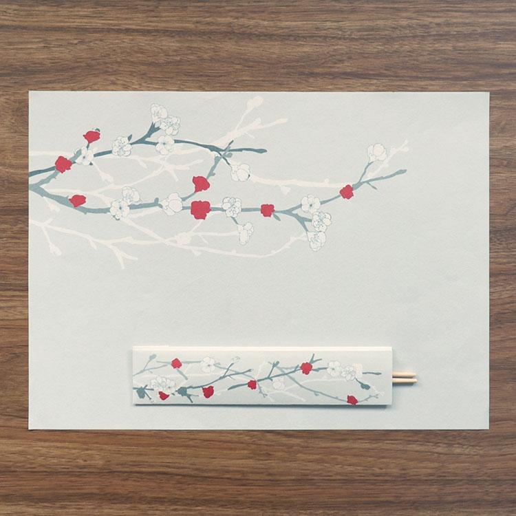 medetaya modern(メデタヤモダン)UME 箸包み(梅 3膳入)24.5 cmの商品画像2