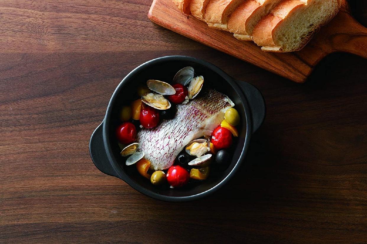 Graceramic(グレイスラミック)陶製深型両手スキレットパン 17cmの商品画像5