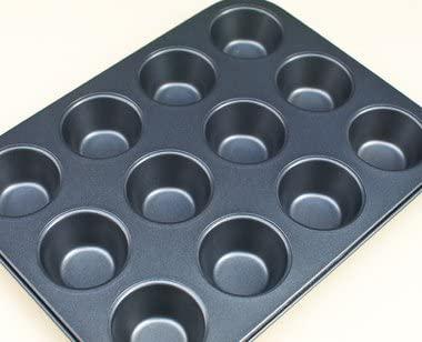 馬嶋屋菓子道具店(マジマヤ)シリコン加工 ミニマフィン天板 12P【マフィン型】ブラックの商品画像