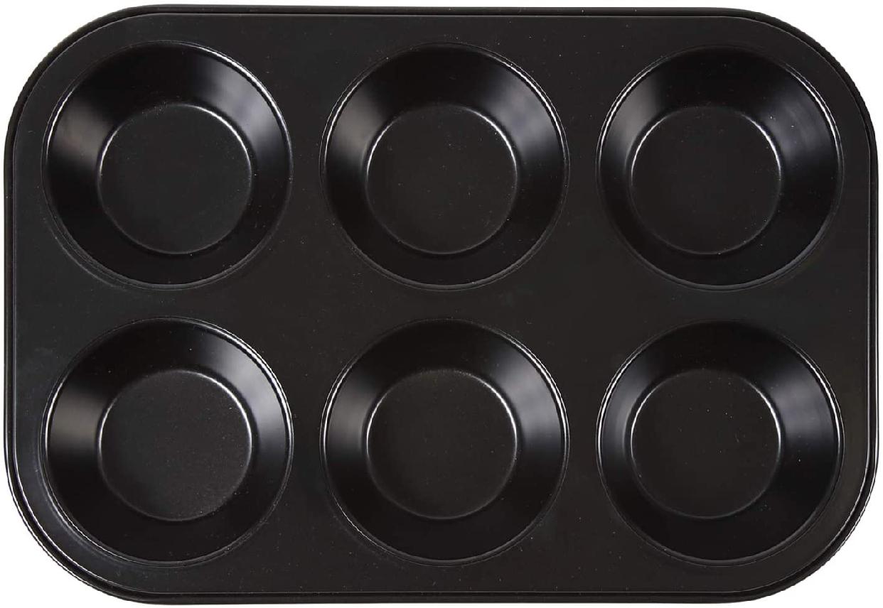 ソラトブフライパンマフィン天板 (マフィン型6ヶ付)ブラックの商品画像