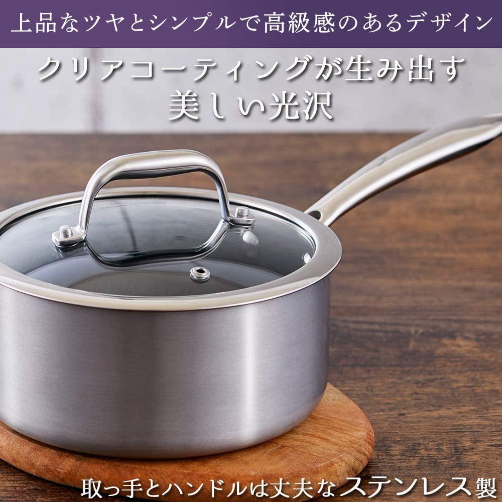 KITCHEN CHEF(キッチンシェフ)ダイヤモンドグレイス 片手鍋 18cm DG-P18の商品画像