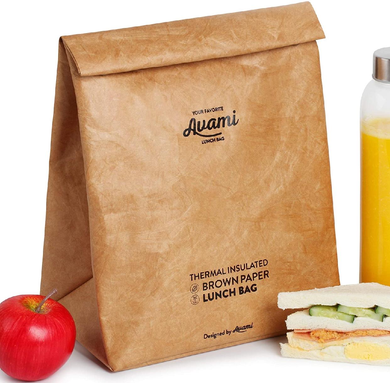 AVAMI(アヴァミ)ブラウンペーパーランチバッグの商品画像