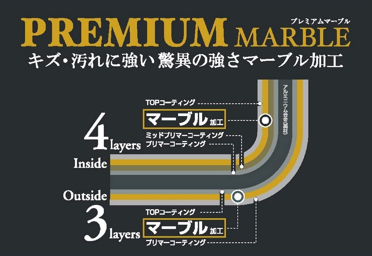 PREMIUM MARBLE(プレミアムマーブル)IH対応ガラス蓋付片手鍋18cm  H-4236の商品画像3
