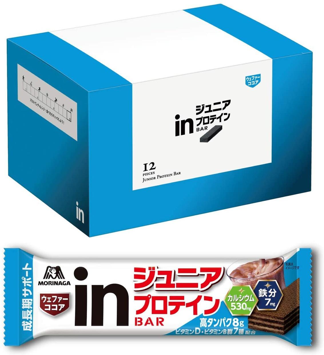 森永製菓(MORINAGA) inバー ジュニアプロテインの商品画像