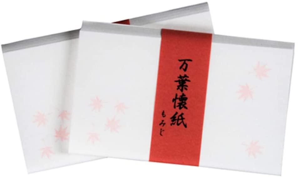 こころ懐紙本舗(ココロカイシホンポ) 万葉懐紙 紅葉 2帖入 60枚の商品画像