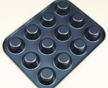 馬嶋屋菓子道具店(マジマヤ)シリコン加工 ミニマフィン天板 12P【マフィン型】ブラックの商品画像3
