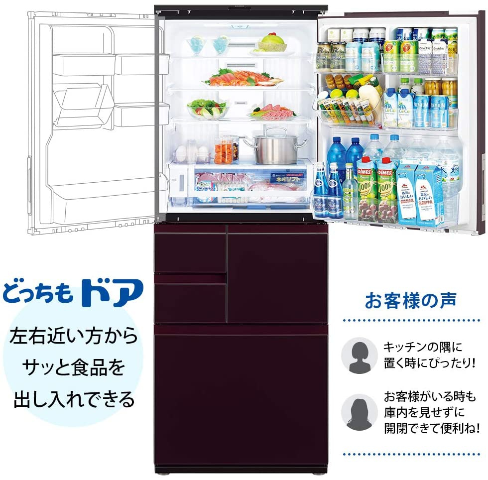 SHARP(シャープ)冷蔵庫 SJ-AW50Fの商品画像2