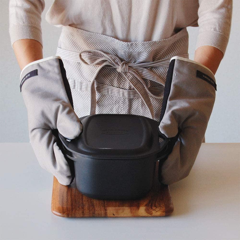 Rinnai(リンナイ) 熱に強い!グリルミトン(グレイ×ブラック)※2枚1組 820-078-000の商品画像3