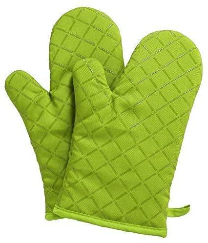 yodda(ヨッダ) 鍋つかみ シリコンチェック 耐熱ミトン(2個セット) (グリーン)の商品画像