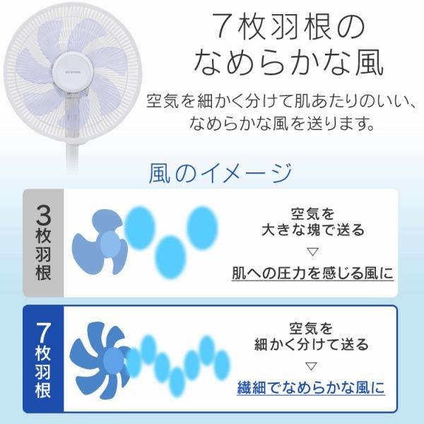 IRIS OHYAMA(アイリスオーヤマ) リモコン式リビング扇 DCモーター式 ハイタイプ LFD-306Hの商品画像6
