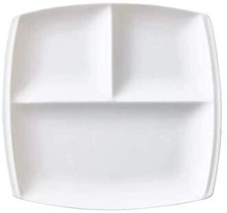 titto(チット)3つ仕切皿(角) 白 P37501の商品画像