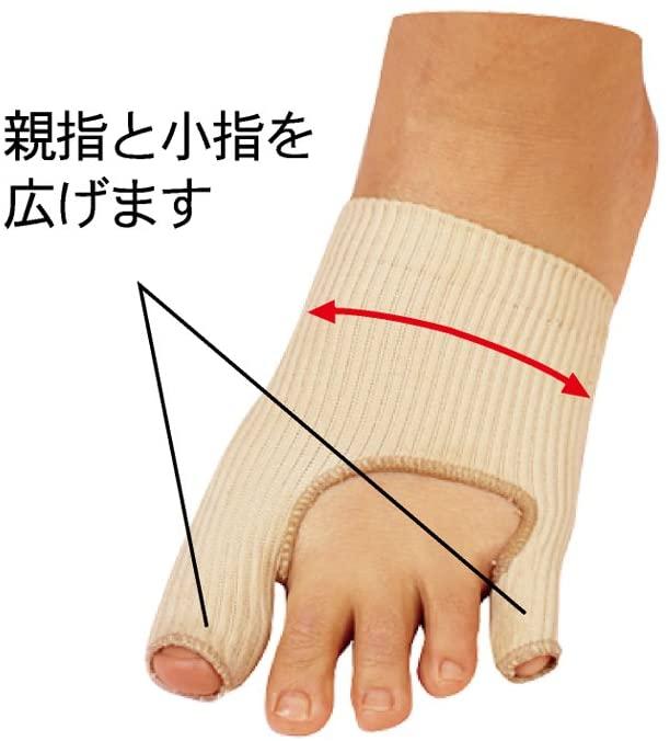 足指小町 歩行らくらくサポーター NEW外反母趾・内反小指 ハードタイプ 左右兼用の商品画像2