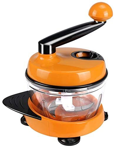 LULAA(ルルア) みじん切り器 多機能スライサー チョッパー 改良版 オレンジ