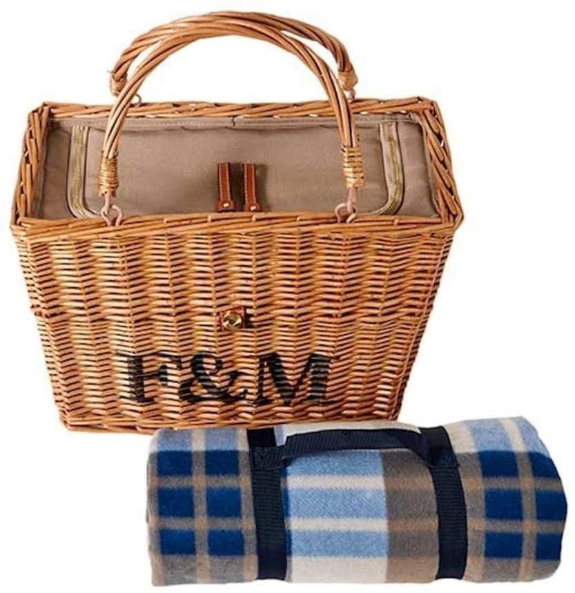 Fortnum & Mason(フォートナム&メイソン)ピクニックラグ付き保冷バスケット ブラウンの商品画像2