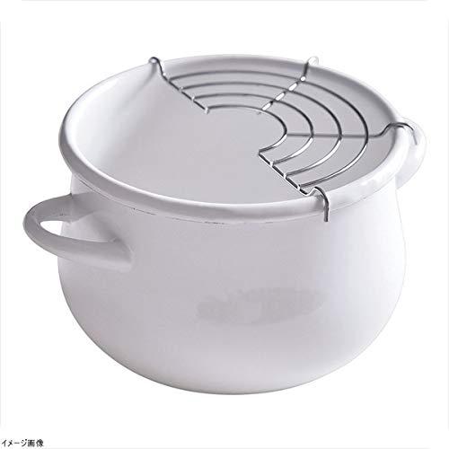 Cozy Cook(コージークック) ホーローミニ天ぷら鍋16cm ホワイトの商品画像