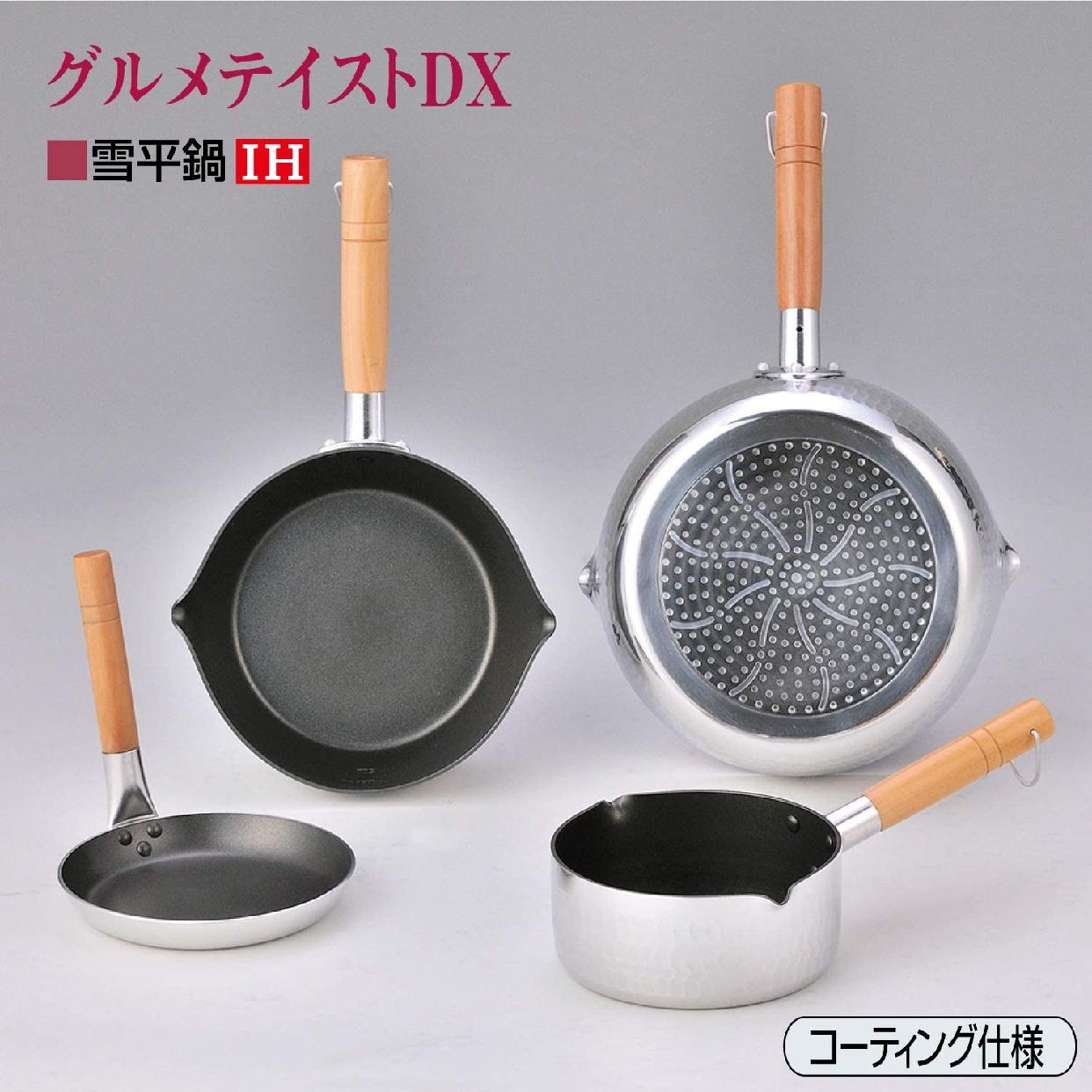 【IH】グルメテイストDX(【アイエイチ】グルメテイストデラックス) コーティングIH雪平鍋 シルバーの商品画像4