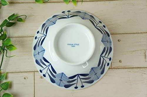 KitchenMartD-まちのうつわ屋さん- オーランド うすかる  麺鉢 19cm 藍色の商品画像4