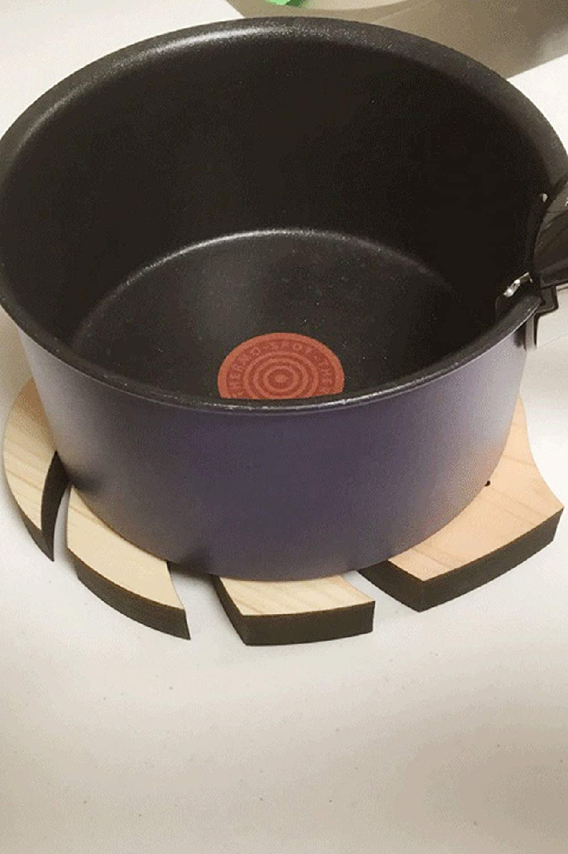 AndLaki(アンドラキ) 鍋敷き 大 ダークブラウンの商品画像3