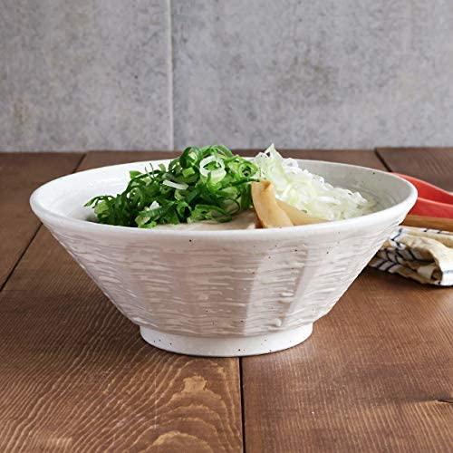 TABLE WARE EAST.(テーブルウェアイースト) 粉引 しのぎ刷毛目 6.3寸ラーメンどんぶり  2個セットの商品画像