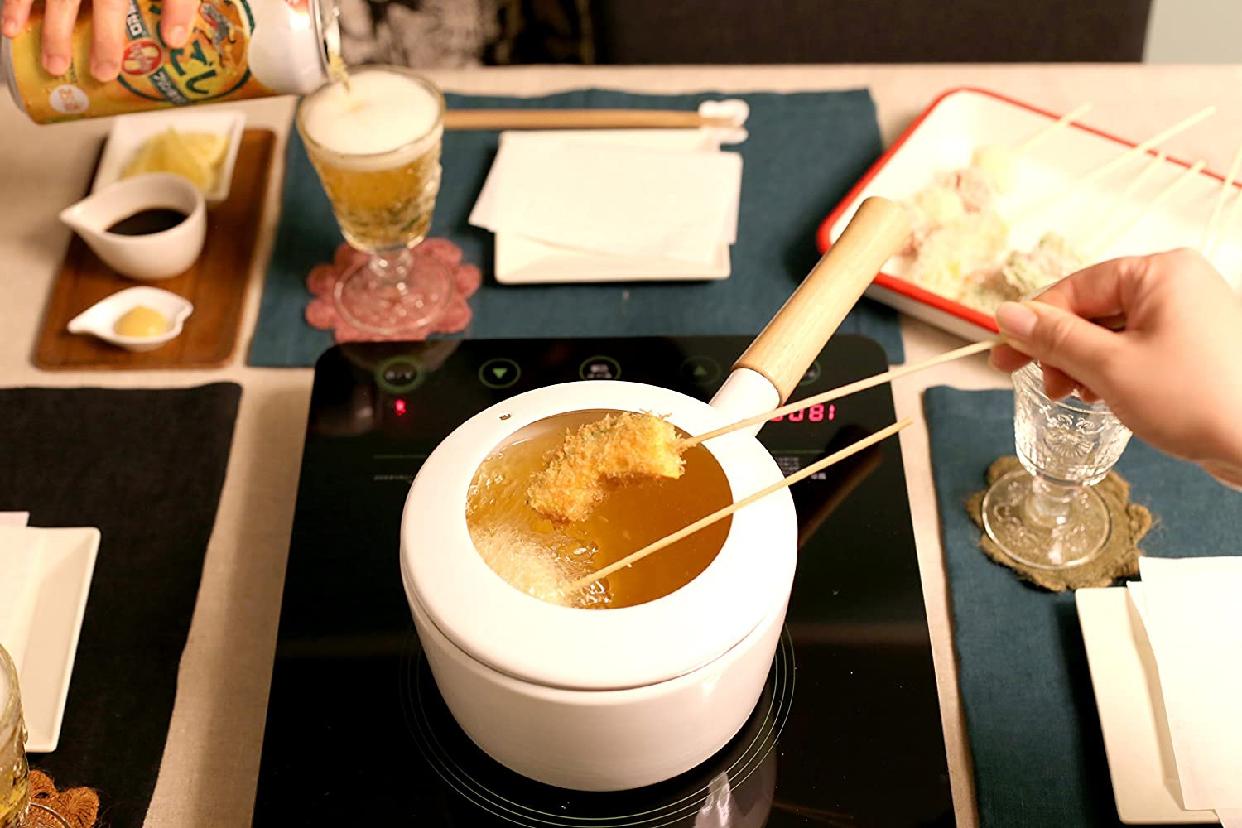 富士ホーロー(FUJIHORO) 2WAY ホーロー 片手 天ぷら鍋 16cm 温度計付きの商品画像7